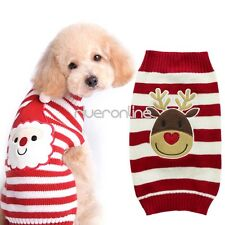 Pet Christmas Sweater Striped Dog Clothes Puppy Sweater Apparel for Dogs & Cats