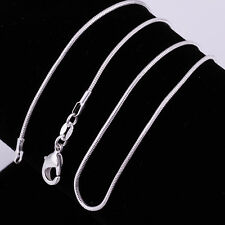 Silver Plated 1MM Classic Snake Necklace Chain Wholesale Bulk Price QW