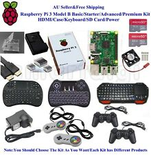 AU Raspberry Pi 3 Model B Basic/Starter/Advanced/Premium Kit HDMI/Case/Keyboard