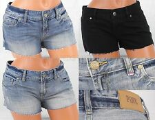 VICTORIA'S SECRET WOMENS DENIM JEAN SHORTS CUT OFF BLUE BLACK PINK NWT SEXY