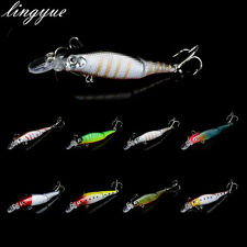9cm/7.5g Minnow Fishing Lures CrankBait Hooks Bass Fishing Tackle