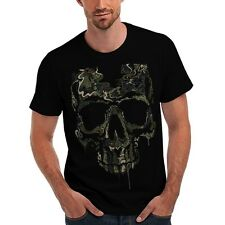 Military T Shirt Special Ops Skull Camo Camouflage Hunting Soldier Tattoo Biker