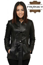 Franky Detective Style Genuine Lamb Skin Leather Jacket 143