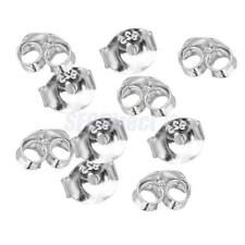 10pcs Sterling Silver Butterfly Backs Stopper Stud Earring Making Findings