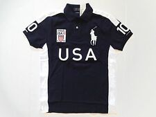 Polo Ralph Lauren Custom Fit USA Big Pony NAVY BLUE SHIRT S, M. L, XL, XXL