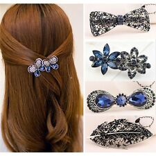 Women Lady Fashion Hair Accessory Floral Butterfly Hair Barrette Clip Hairpin