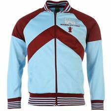 Score Draw Mens Gents Vintage West Ham United 1980 Track Jacket Overcoat Zipped