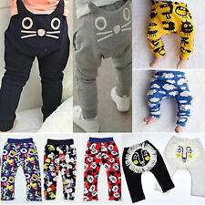 Infant Baby Kid Boy Girl Animal Print Harem Pants Winter Stretchy Long Trousers