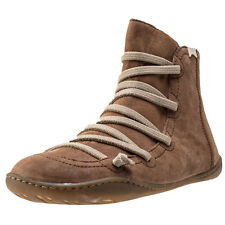 Camper Peu Cami Mid Womens Ankle Boots Cognac New Shoes