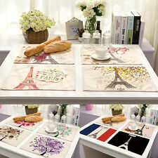 Tableware Printed Placemats Insulation Table Mats Coasters Kitchen Dining Decor