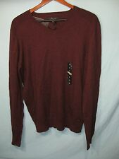 NWT Marc Anthony Maroon Men's V  Neck Sweater