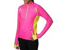 MORE MILE VANCOUVER WOMENS LADIES COLD THERMAL FLEECE HI VIZ CYCLING RUNNING TOP