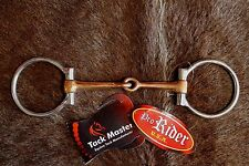 """Stainless Steel Copper 5"""" Mouth Jointed 2-5/8"""" Ring Snaffle Horse Bit 3546"""