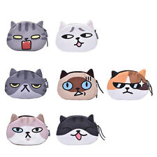 Children Gift Cat Face Coin Purse Kids Wallet Bag Change Pouch Key Holder QW