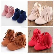 Newborn Toddler Fringe Warm Tassel Boots Baby Infant Boy Girl Boots Soled Shoes
