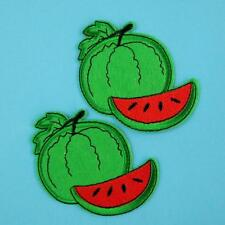 2 Watermelon Picnic Iron on Sew Patch Beauty Embroidery Applique Badge Fruit Lot