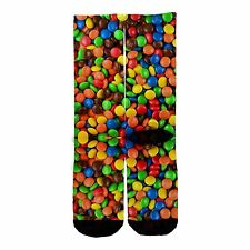 Memo Socks- M&Ms Candy ! m and m chocolate candy coated elite elites