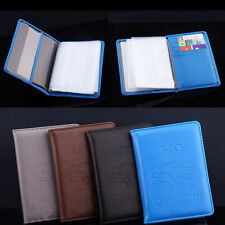 Russian Auto Driver PU Leather Car Driving Documents Card Holder Purse Wallet QW