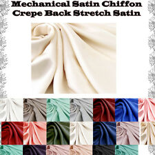 Crepe Back Satin Mechanical Satin Stretch Chiffon Fabric by the Yard