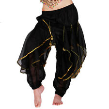 Women Belly Dance Costume Long Pants Harem Chiffon Bollywood Carnival Outfits #6