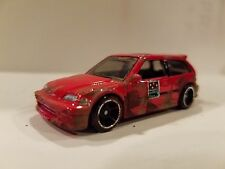 Custom real world look  Domino's Pizza delivery 1990 Honda Civic EF , Red car 2