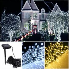 100/200 LED String Solar Light Outdoor Garden Xmas Party Fairy Tree Lawn Lamp