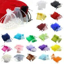 100pcs 7x9cm Organza Gift Bags Jewellery Candy Packing Pouches 21 Colors Pick