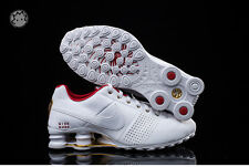 * NEW NO BOX * Nike Shox Deliver Running Womens/ Shoes 317549-118 White/GOLD/Red