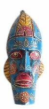 Beautifully Designed Wooden Hand-carved Painted Stylish Mask Living Room Decor