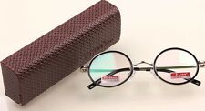 RG40/1 CLASSIC ROUND FRAME RETRO FASHION READING GLASSES WITH CASE +1.50 +2.50