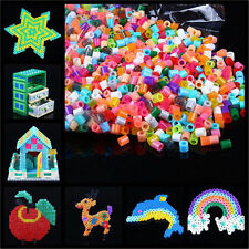 New 1000pcs PERLER/HAMA BEADS Peg Board Pegboard Kids Children Creative Fun Toy