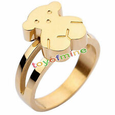 Stainless Steel Ring Womens Silver/Gold Wedding Band Fashion Jewery Size6-9