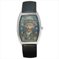 Self Portrait Van Gogh Barrel Style Watch (Leather & Stainless Steel Straps)