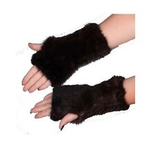 Real Mink Fur Knitted Fingerless Gloves and Genuine Mink Fur Mittens