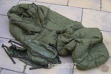 UK BRITISH ARMY PLCE COLD WEATHER ARCTIC SLEEPING BAG,G1 & 2 NO COMPRESSION SACK