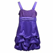 Ruby Rox Girls Purple Satin Formal Dressy Party Dress Sequined Pick Up Gown 7 8