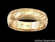 Lord of the Rings One Ring of Power 10k Yellow Gold