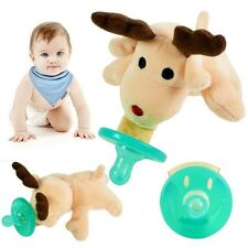 New Cute Animal Baby Nipple Infant Wubbanub Silicone-Pacifiers with Cuddly Plush