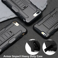 Armor Impact Heavy Duty Rugged Hybrid Hard Case Belt Clip Stand Cover For iPhone