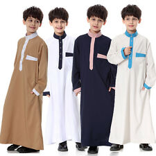 Boys Kids Saudi Style Thobe, Jubba, Arab Robe, Dishdasha Islamic Clothing