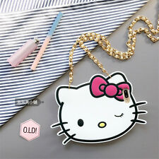 Cute cartoon Hello kitty Pearl chain Rubber soft case Cover for iPhone 7 6S Plus