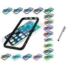 For Apple iPhone 6 (4.7) TPU Bumper Frame Metal Buttons Case Stylus Pen