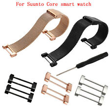 Stainless Steel Watch Band Connector Lugs Adapters + Screwdriver For Suunto Core