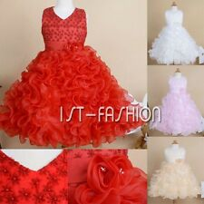 Flower Girls Dress Party Princess Pageant Wedding Bridesmaid Ball Gown Dresses