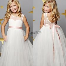 New Flower Girl Dress Pageant Communion Party Wedding Bridesmaid Princess Dress