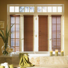"SET OF 2 - 2"" FAUXWOOD BLINDS 9"" WIDE x 73"" to 84"" LENGTHS - 5 GREAT COLORS!"
