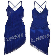 1920s Flapper Gatsby Party 20s Dress Fringe Charleston Weeding Prom 7 Colors #16
