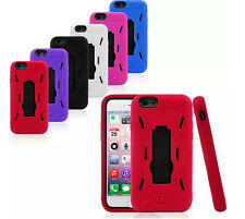 Rugged 2in1 Silicone PC Hybrid Robot Holder Stand Case Cover For iPhone 5 5c 5s