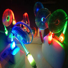 1m Crystal Led Light Micro USB Cable Sync Data Charger Cables For Android Phones