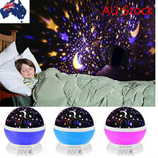 Cosmos Sky Starry Star LED Night Lamp Rotation Projector Lighting USB & Battery